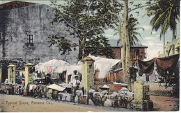 POSTAL DE TYPICAL SCENE IN PANAMA CITY (ALBERT LINDO) - Panamá
