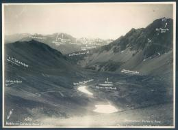 73 Modane Bardonecchia Vallée Col Roue 1928 Photo 16 X 23 Cm Prise D'un Avion Militaire Alpinisme Ski - Modane