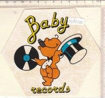 PO7731D# ADESIVO STICKER MUSICA - BABY RECORDS - Musica & Strumenti