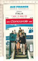 PO7735D# AVIAZIONE - ORARIO TASCABILE AIR FRANCE CONCORDE 1976 - Orari
