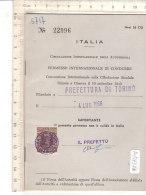 PO7737D# LIBRETTO CIRCOLAZIONE INTERNAZIONALE AUTOVEICOLI - TORINO 1966 - Automobili