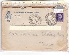 """PO7746D# LETTERA MILITARE 1° BATTAGLIONE VOLONTARI GIL """"TORINO""""  VG ORZINUOVI 1940 - 1939-45"""