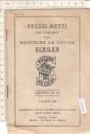 PO7748D# LISTINO PREZZI MACCHINE DA CUCIRE SINGER 1935 - Strumenti