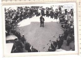 PO7763D# FOTOGRAFIA ASS.NAZIONALE BERSAGLIERI SEZ.A. LAMARMORA TORINO - BANDA MUSICALE TROMBE - War, Military