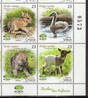 SERBIA, 2018, MNH, BELGRADE ZOO, BABY ANIMALS, BIRDS, CHILDREN'S STAMPS, 4v - Vogels