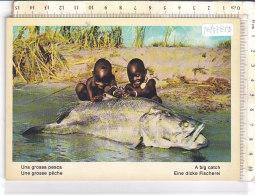 PO7785D# AFRICA GROSSA PESCA - BIG FISCH - BAMBINI  No VG - Cartoline
