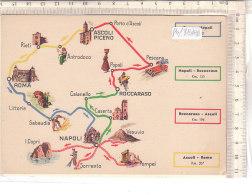 PO7818D# CARTINA MAP - PUBBLICITA' ESSO 1939 - ESSOLUBE - ASCOLI PICENO-ROMA-ROCCARASO-NAPOLI   No VG - Carte Geografiche