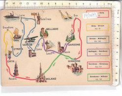 PO7819D# CARTINA MAP - PUBBLICITA' ESSO 1939 - ESSOLUBE - ORTA-STRESA-VARESE-BELLAGIO-MILANO-SIRMIONE  No VG - Carte Geografiche