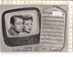 PO7829D# COPPIE - SPARTITO CANZONI AMORE - TELEVISIONE APPARECCHIO TV  VG 1955 - Couples