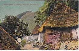 POSTAL DE PANAMA DE NATIVE HUTS AT TABOGA (L. MADURO) - Panamá