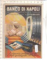 PO7893D# PUBBLICITA' BANCO DI NAPOLI - PROPAGANDA RISPARMIO - LIBRETTO RISPARMIO BALILLA - SOLDI - ILLUSTRATORI  No VG - Banche