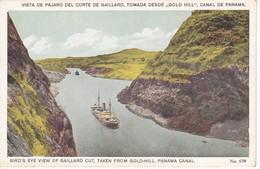 POSTAL DE VISTA DE PAJARO DEL CORTE GAILLARD, TOMADA DESDE GOLD HILL EN EL CANAL DE PANAMA (L. MADURO) - Panamá
