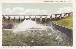 POSTAL DE DESAGUE DE GATUN EN EL CANAL DE PANAMA (L. MADURO) - Panamá