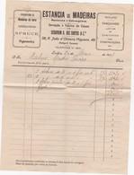 PORTUGAL COMMERCIAL DOCUMENT - ESTANCIA DE MADEIRAS - SERAPHIM A. DOS SANTOS - LISBOA - Portugal