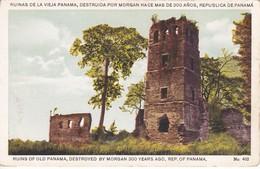 POSTAL DE LAS RUINAS DE LA VIEJA PANAMA, DESTRUIDA POR MORGAN HACE MAS DE 500 AÑOS (L. MADURO) - Panamá