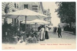 Suisse. Genève, Place Du Molard, Marché Aux Fleurs (4473) - GE Ginevra