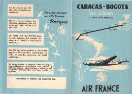 PO8084D# Brochure AVIAZIONE - AEREI AIR FRANCE - CARACAS-BOGOTA EN SUPERCONSTELLATION - Pubblicità