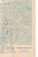 PO8088D# MAP/ CARTINA MAXIM RECLAME SPAGNA BARCELONA Ed.Forpe Anni '50 - PUBBLICITA' OLIVETTI - PERLAS MAJORICA - Carte Topografiche
