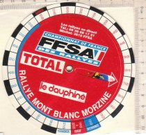 PO8091D# DISCO ORARIO PUBBLICITA' RALLYE MONT BLANC MORZINE - CHAMPIONAT DE FRANCE FFSA DES RALLYES - BENZINA TOTAL - Automobilismo - F1