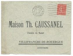 ENVELOPPE / SEMEUSE 50c / PARIS XII R CROZATIER / 1928 - Storia Postale