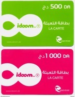 2 CARTES RECHARGE INTERNET RECHARGE CARD Karten Aufladen RECARGA TARJETA Utilisée / Used - Algeria