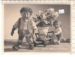 PO8128D# MECKI - PUPAZZI RICCI - CARRETTO FIORI  VG 1958 - Mecki
