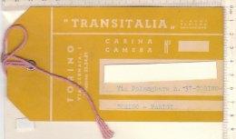 PO8170D# ETICHETTA TARGHETTA VALIGIA - VIAGGI TURISMO NAVIGAZIONE TRANSITALIA - Etichette Da Viaggio E Targhette