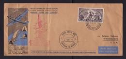 Cie SABENA / Vol Spécial BELGIQUE >>> ETATS UNIS / BASTOGNE MEMORIAL 04.07.1946 - Marcophilie