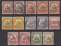 DUITSE KOLONIEN - DUITS SUD WEST AFRIKA  1901   Michel   Various Stamps  , See  Scan ,used/x/VF  [DK  508  ] - Colonie: Afrique Sud-Occidentale