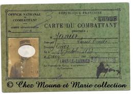 LONS LE SAUNIER 1930 - JANIER LOUIS 1873 ONOZ - 7 EME BATAILLON DU GENIE - CARTE DU COMBATTANT - JURA - MILITAIRE - Documents