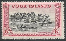 Cook Islands. 1949-61 Definitives. 6d MH. SG 155 - Cook Islands