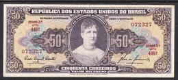 BRASIL 1954 .  50 CRUZEIROS  PRINCESA ISABEL  .PICK Nº 133  . EBC . B047 - Brésil
