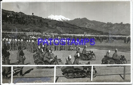 101307 REAL PHOTO MOTORCYCLE MOTO WITH SIDECAR & MILITARY POSTAL POSTCARD - Motorräder
