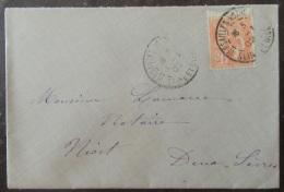 Enveloppe Avec 15c Type Mouchon YT N°117 - Oblitération Versailles En 1902 - Marcophilie (Lettres)