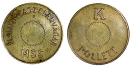 05312 GETTONE TOKEN JETON TRASPORTO TRANSIT SWEDEN MALMO STADS SPARVAGASR K POLLETT - Tokens & Medals