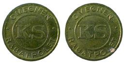 05313 GETTONE TOKEN JETON TRASPORTO TRANSIT DENMARK OMEGNEN / KS / RABATPOLET - Tokens & Medals