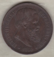 Brazil 40 Reis 1880 Pedro II KM# 479 - Brazil