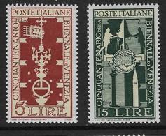 Italy 1949 Venice Biennale 5l, 15l Mint - 6. 1946-.. Republic