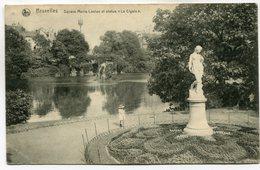 """CPA - Carte Postale - Belgique - Bruxelles - Square Marie Louise Et Statue """"La Cigale"""" - 1919 (SV5889) - Places, Squares"""