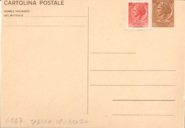 "INTERO POSTALE TIPO SIRACUSANA L. 30 ""CARTOLINA POSTALE"" 1966 - NUOVO 2ª SCELTA - CATALOGO FILAGRANO C167 - 1946-.. République"
