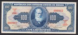 BRASIL 1956.  100 CRUZEIROS  . D.PEDRO II PICK Nº 170B . EBC  . B068 - Brasil