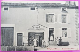 Cpa Villey Saint Etienne Boucherie Artis 1914 Carte Postale 54 Meurthe Et Moselle Très Rare St - France