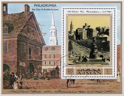 Ajman 1971 Bf. Philadelphia Fiera World Exhibition Sheet Perf. CTO - 1876 – Philadelphie (Etats-Unis)