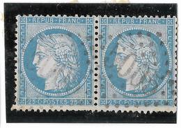 TIMBRES N° 60/1 ;  PAIRE  147/148  B2 ,  BIEN CENTRÉS  TTB - 1871-1875 Cérès
