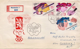 Postal History: Czechoslovakia R Cover With Full Set - Summer 1976: Montreal