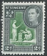 St Vincent. 1938-47 KGVI. 2d MH. SG 152 - St.Vincent (...-1979)