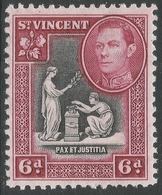 St Vincent. 1938-47 KGVI. 6d MH. SG 155 - St.Vincent (...-1979)