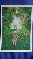 CPM ILLUSTRATEUR PAT THIEBAUT VINCENT BLEU  ANNEE VAN GOGH  V 95 ENGHIEN 1990 2 EME RENCONTRE ARTISTES N° 24/ 2500 - Illustratoren & Fotografen