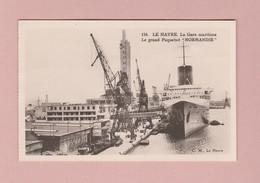 """AK F 76 Le Havre Gare Maritime Et Paquebot """"Normandie"""" Ung. Photo C.M. - Hafen"""