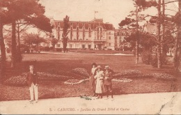 14  CABOURG  Jardins Du Grand Hôtel Et Casino  1925 - Cabourg